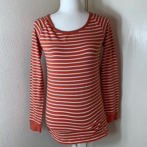 Carve Designs Long Sleeve Stripped Tee. Size S